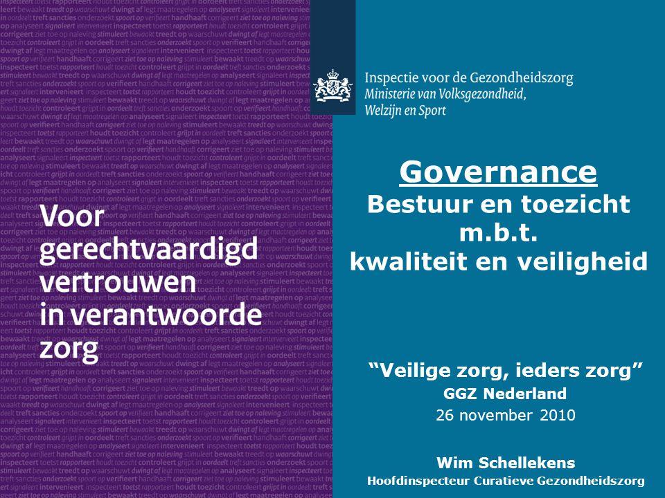 Governance Bestuur en toezicht m.b.t.
