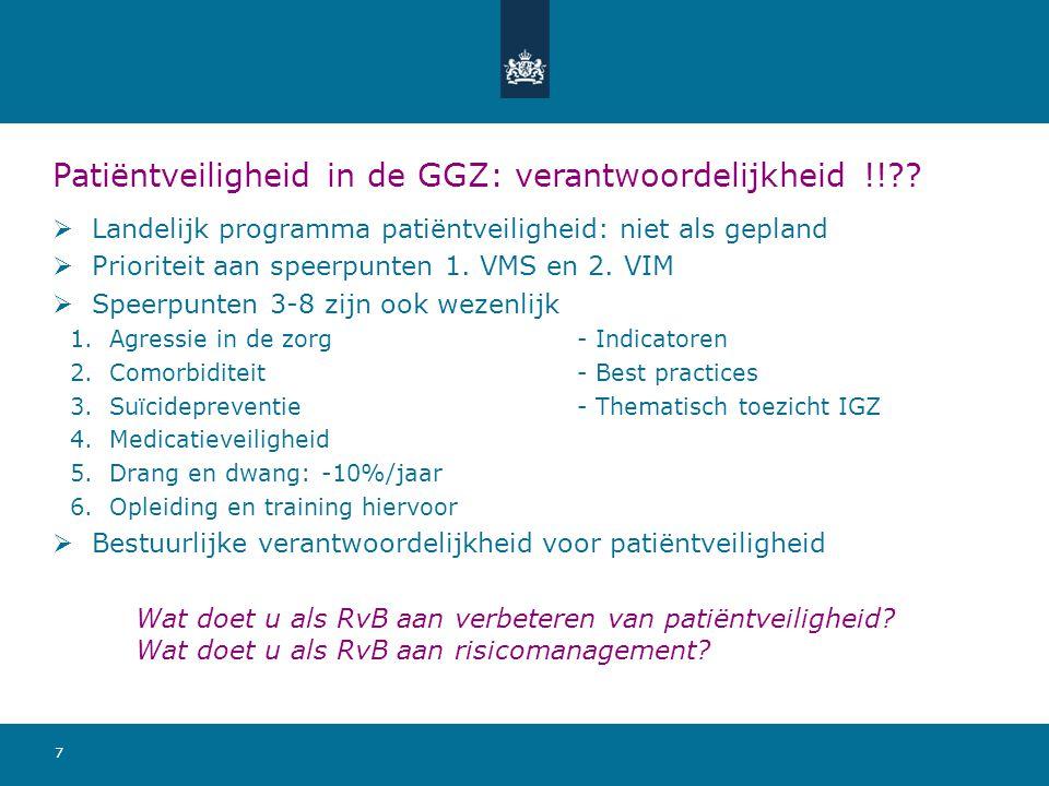 7 Patiëntveiligheid in de GGZ: verantwoordelijkheid !!?.