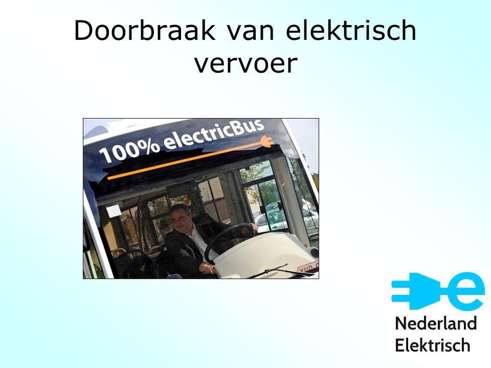 Doorbraak van elektrisch vervoer