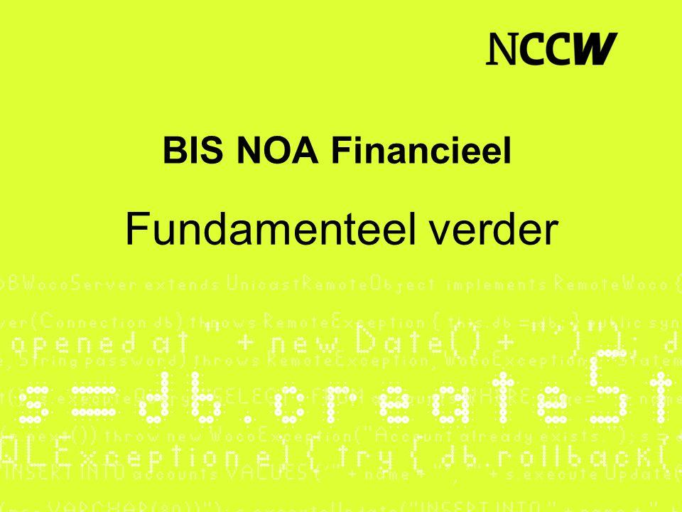 BIS NOA Financieel Fundamenteel verder