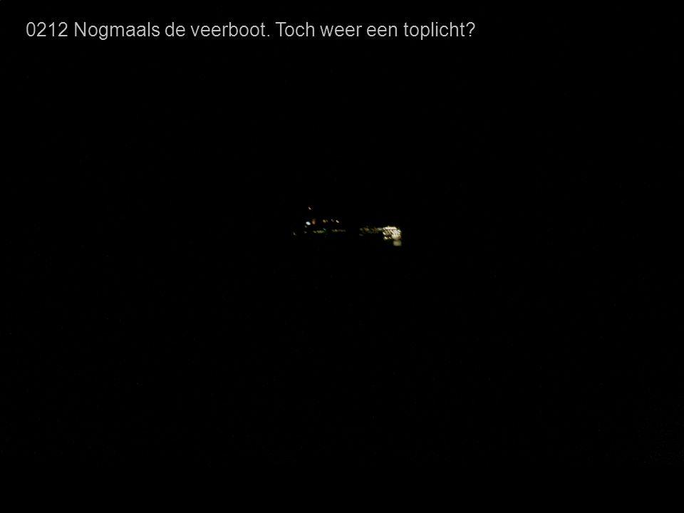 0212 Nogmaals de veerboot. Toch weer een toplicht?