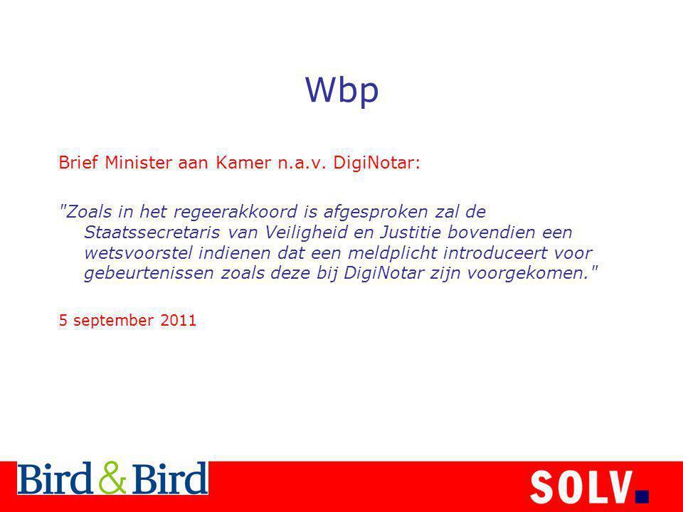 Wbp Brief Minister aan Kamer n.a.v.