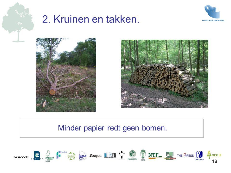 Minder papier redt geen bomen. 18 2. Kruinen en takken.