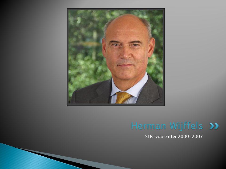 SER-voorzitter 2000-2007 Herman Wijffels