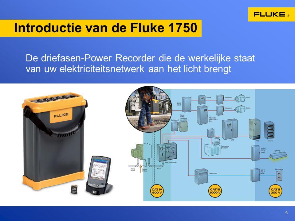 5 Introductie van de Fluke 1750 De driefasen-Power Recorder die de werkelijke staat van uw elektriciteitsnetwerk aan het licht brengt