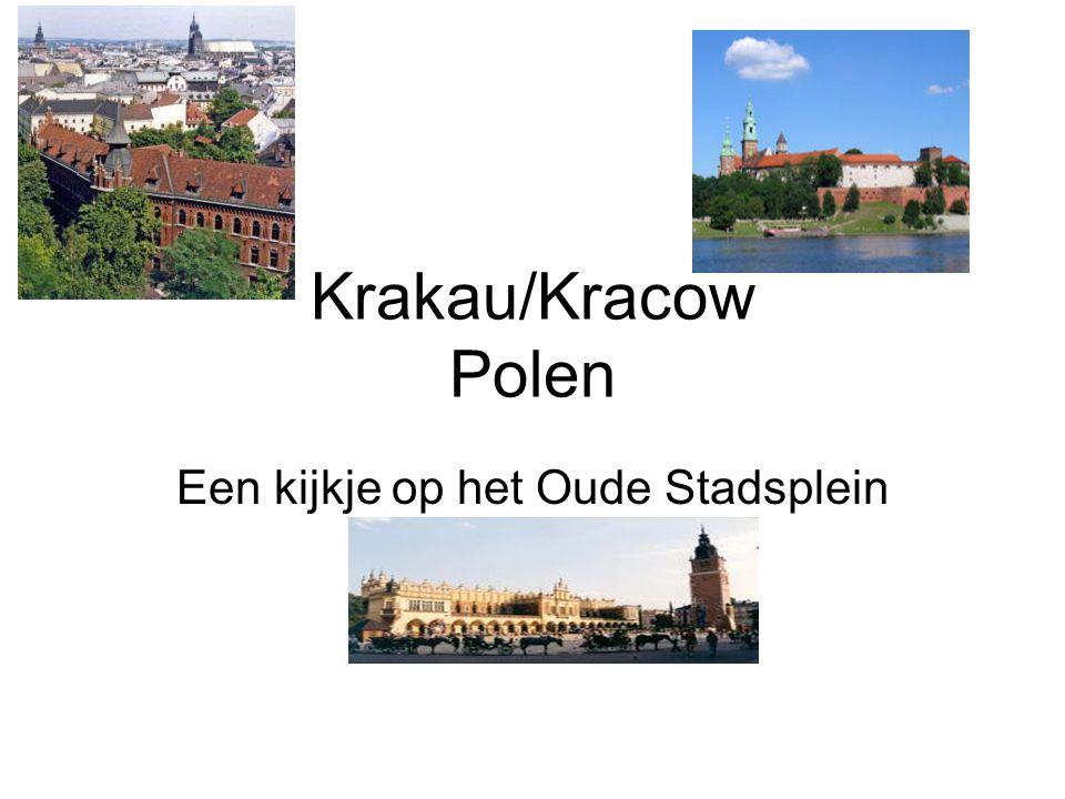 Krakau/Kracow Polen Een kijkje op het Oude Stadsplein