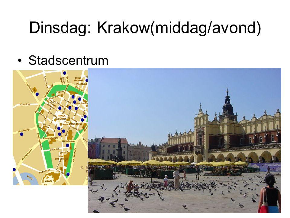 Dinsdag: Krakow(middag/avond) Stadscentrum