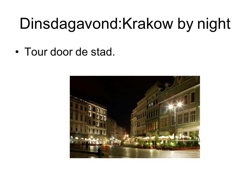 Dinsdagavond:Krakow by night Tour door de stad.
