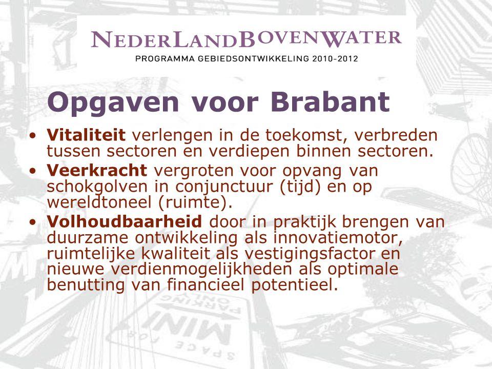 Opgaven voor Brabant Vitaliteit verlengen in de toekomst, verbreden tussen sectoren en verdiepen binnen sectoren. Veerkracht vergroten voor opvang van