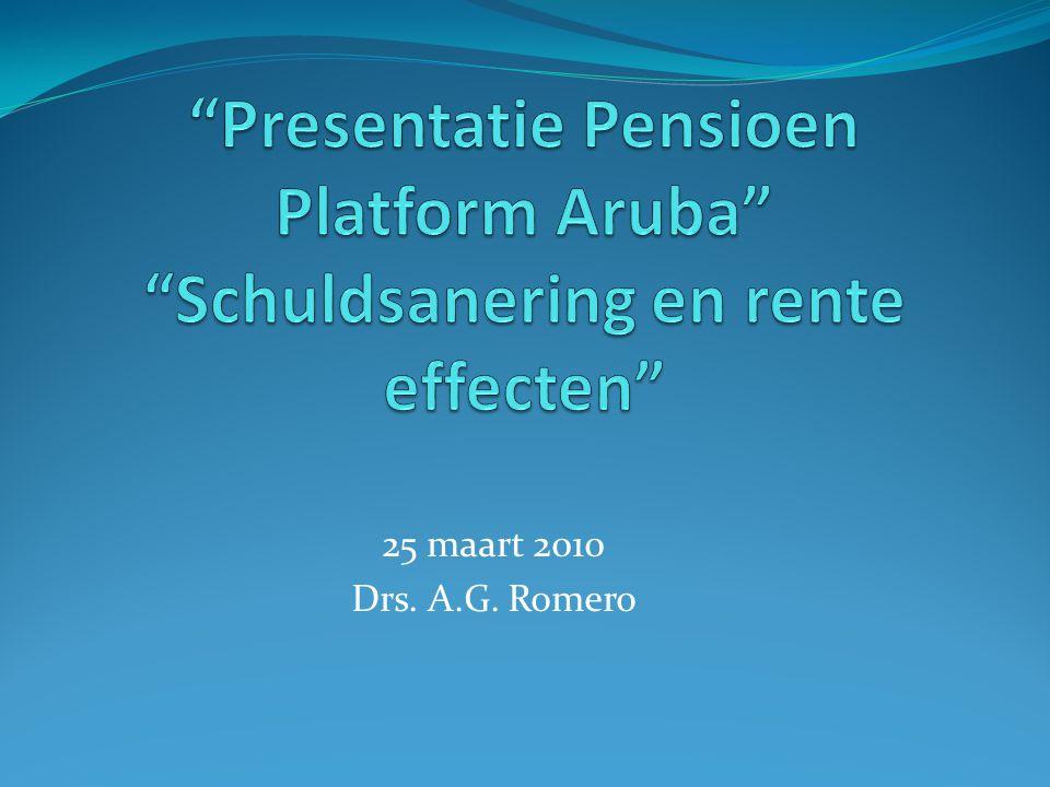 25 maart 2010 Drs. A.G. Romero