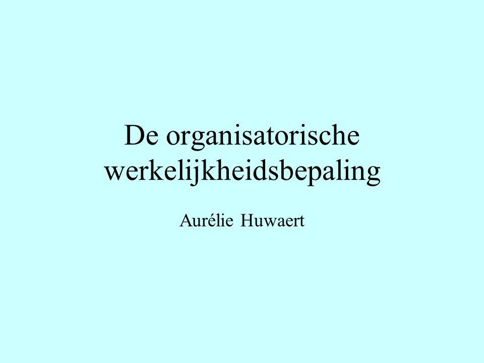 De organisatorische werkelijkheidsbepaling Aurélie Huwaert
