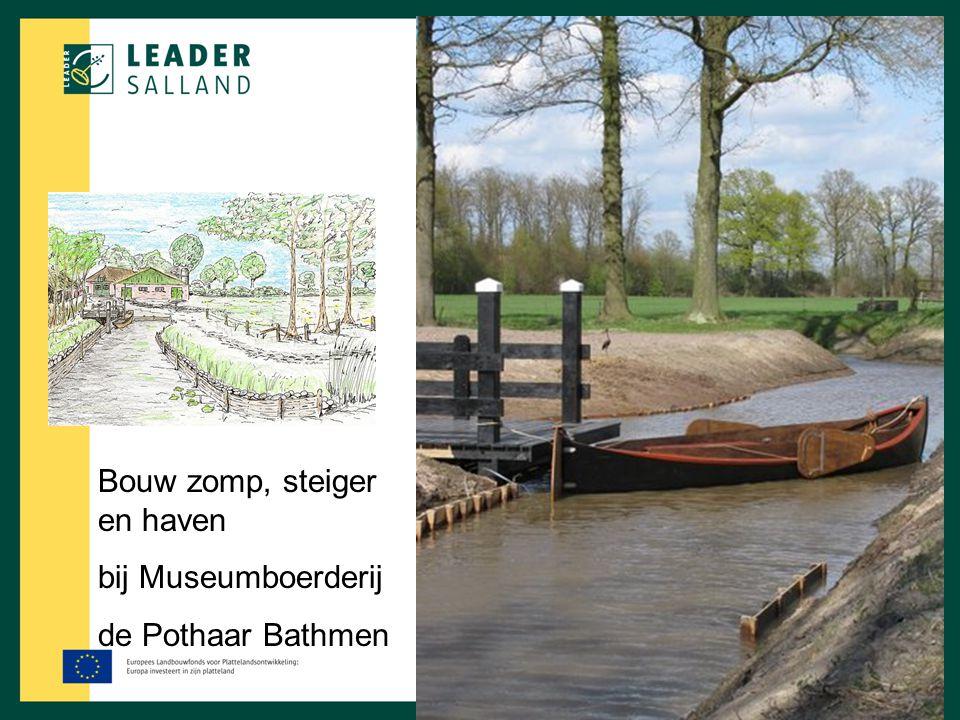 Bouw zomp, steiger en haven bij Museumboerderij de Pothaar Bathmen