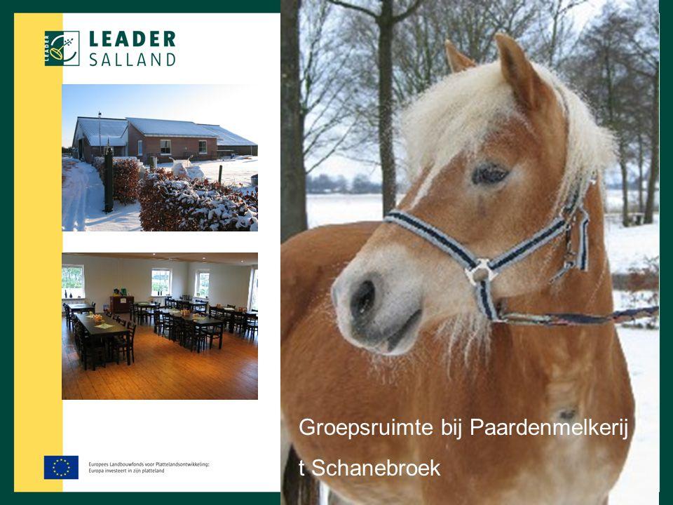 Groepsruimte bij Paardenmelkerij ' t Schanebroek