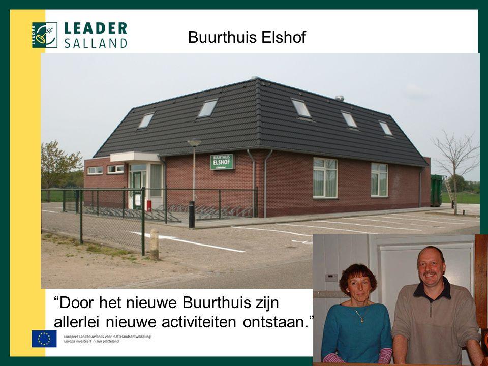 """""""Door het nieuwe Buurthuis zijn allerlei nieuwe activiteiten ontstaan."""" Buurthuis Elshof"""