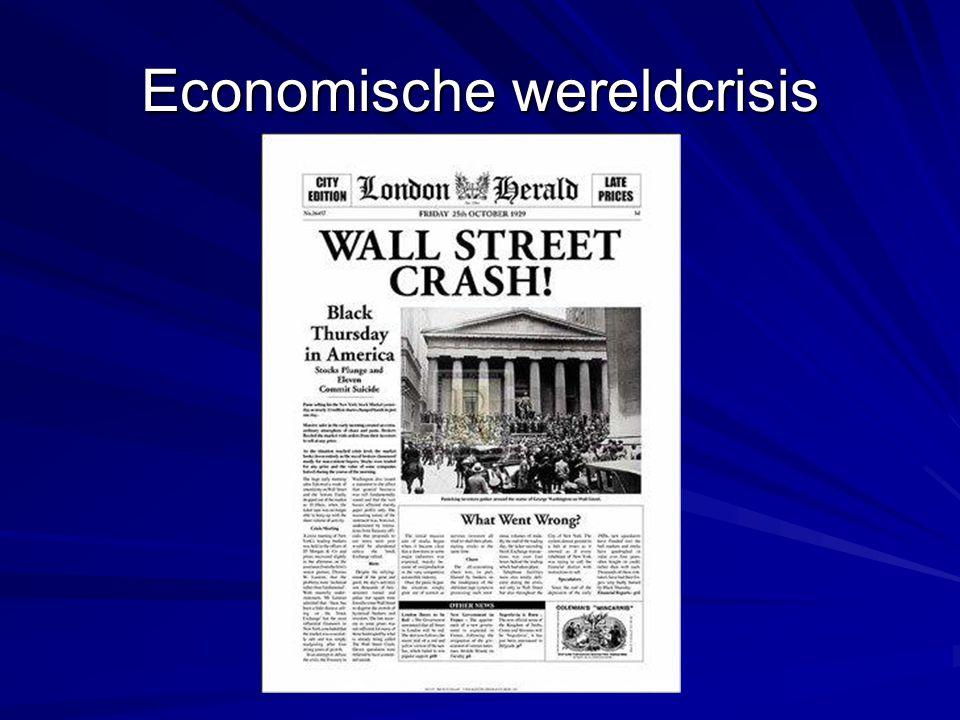 ECONOMIE VS jaren '20 Grote economische bloei(fabulous,gay and roaring twenties) Massaproductie en massaconsumptie ↓ Vooral luxe goederen -auto-radio-stofzuiger-ijskast