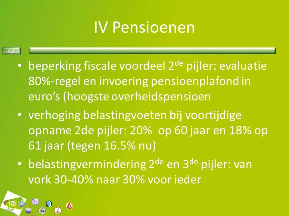 42 beperking fiscale voordeel 2 de pijler: evaluatie 80%-regel en invoering pensioenplafond in euro's (hoogste overheidspensioen verhoging belastingvo