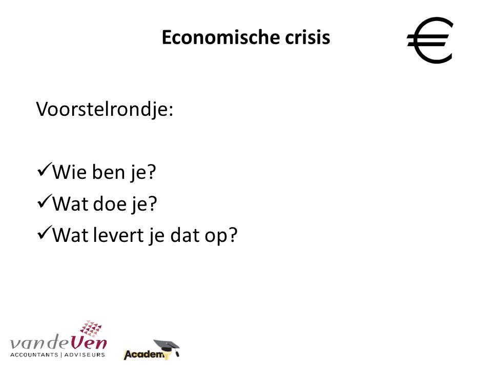 Economische crisis Trends / voorspellingen Demografisch Economisch Sociaal / maatschappelijk Technologisch Ecologisch Politiek