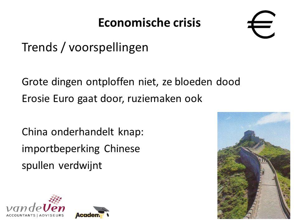 Economische crisis Mogelijkheden om je onderneming draaiende te houden…...