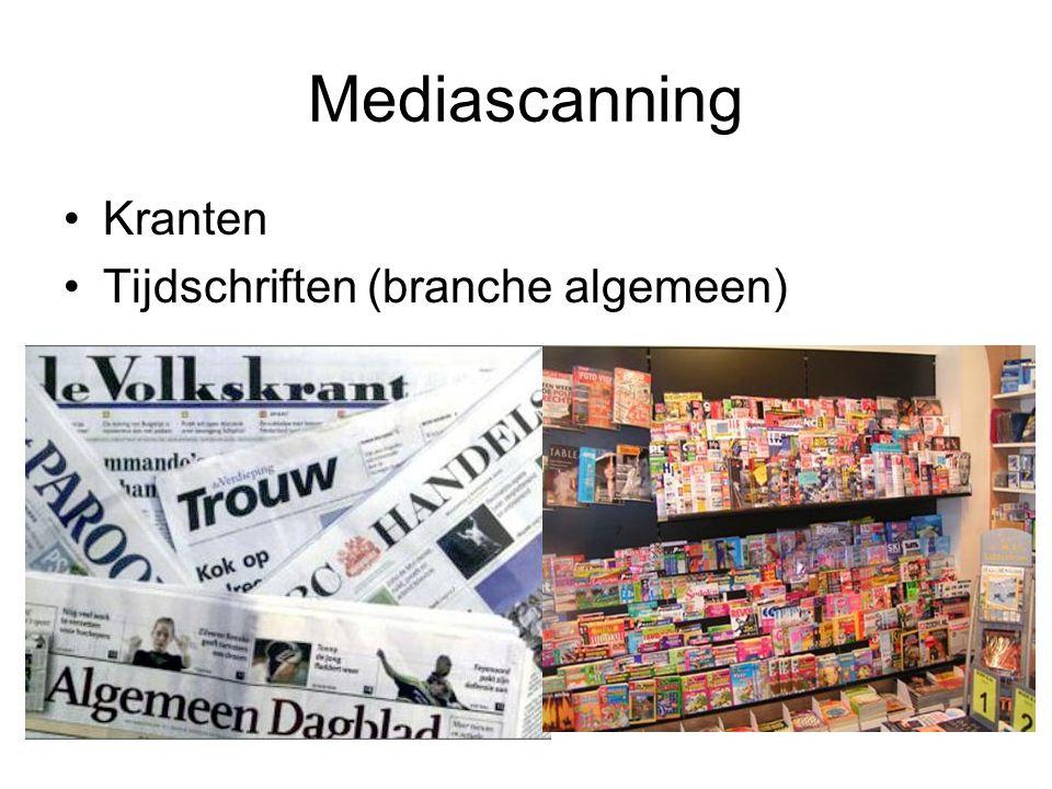 Mediascanning Kranten Tijdschriften (branche algemeen)