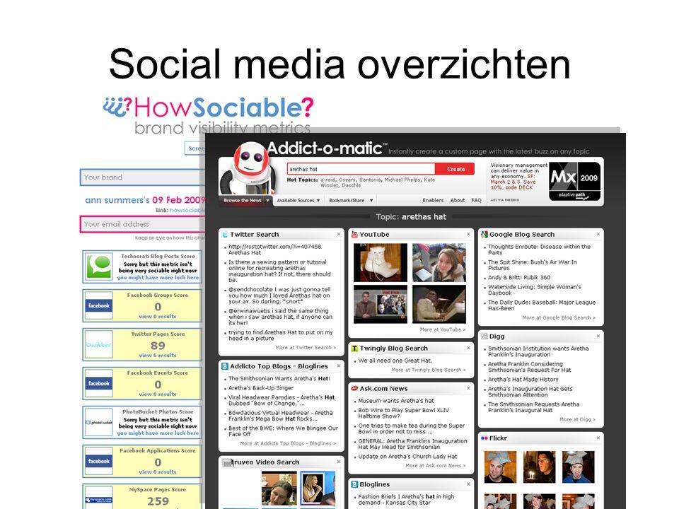 Social media overzichten
