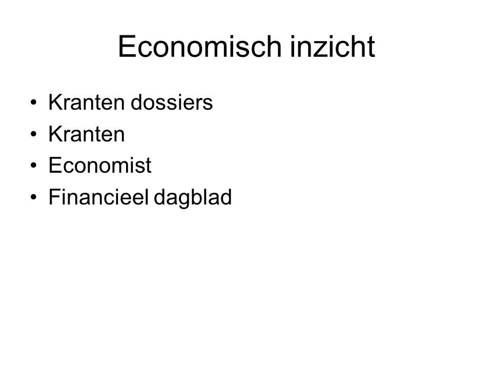 Economisch inzicht Kranten dossiers Kranten Economist Financieel dagblad