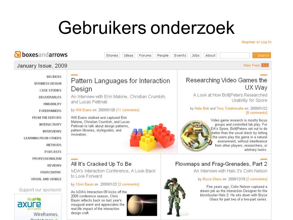 Gebruikers onderzoek