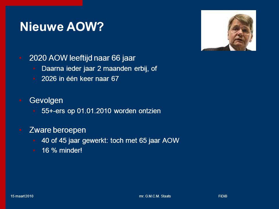 15 maart 2010mr.G.M.C.M. StaatsFiDiB Nieuwe AOW.
