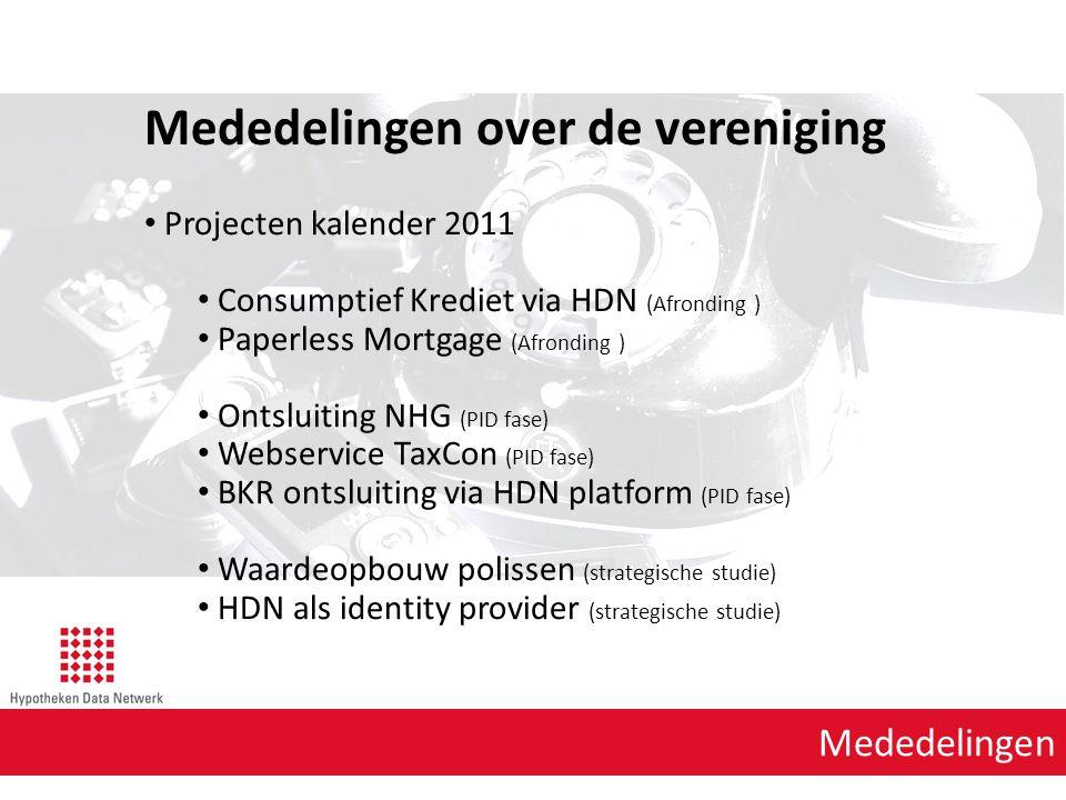 Agenda punt 1 HDN Mogelijkheid Reconstrueren en archiveren