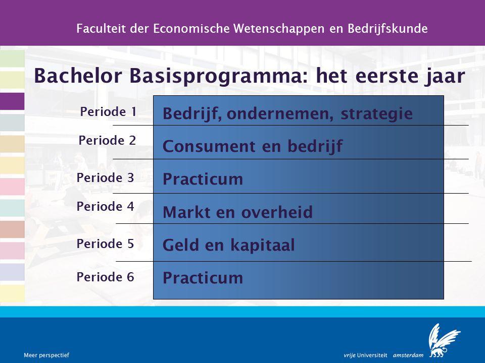 Bachelor Basisprogramma: het eerste jaar Faculteit der Economische Wetenschappen en Bedrijfskunde Bedrijf, ondernemen, strategie Consument en bedrijf