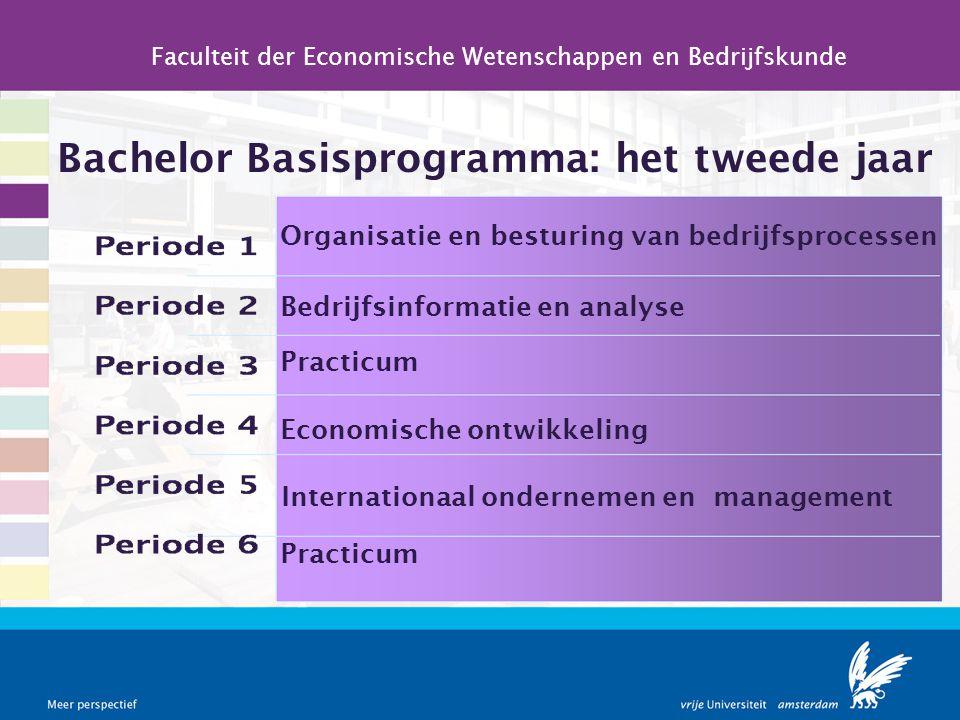 Bachelor Basisprogramma: het tweede jaar Faculteit der Economische Wetenschappen en Bedrijfskunde Organisatie en besturing van bedrijfsprocessen Bedri