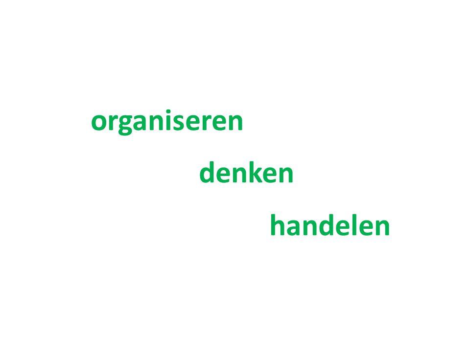 organiseren denken handelen