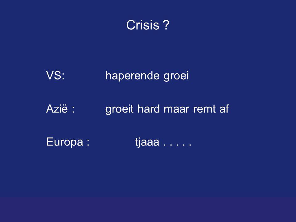 Crisis VS: haperende groei Azië : groeit hard maar remt af Europa :tjaaa.....