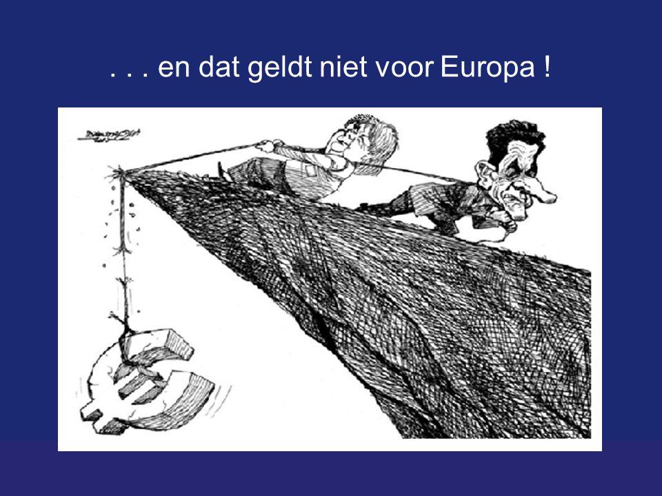 ... en dat geldt niet voor Europa !