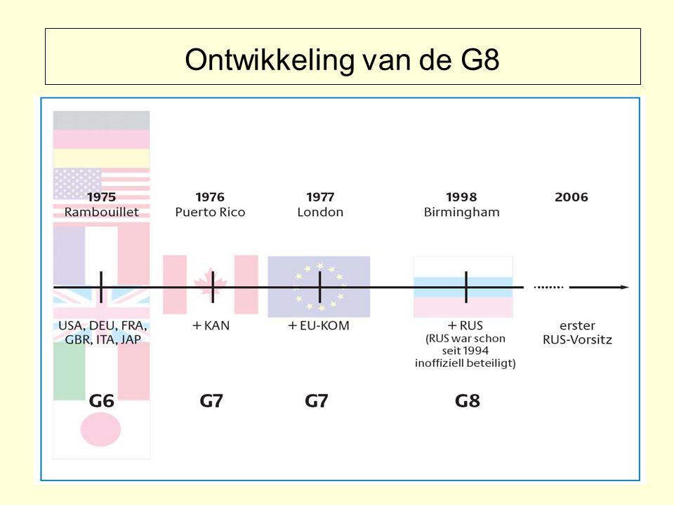 Ontwikkeling van de G8