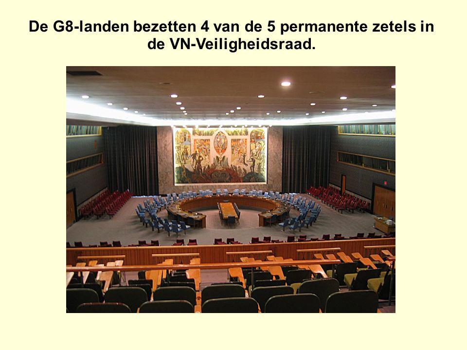 De G8-landen bezetten 4 van de 5 permanente zetels in de VN-Veiligheidsraad.