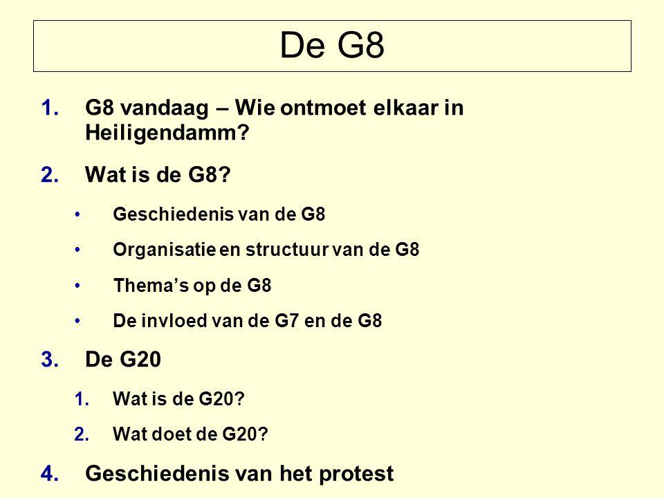 De G8 1.G8 vandaag – Wie ontmoet elkaar in Heiligendamm.