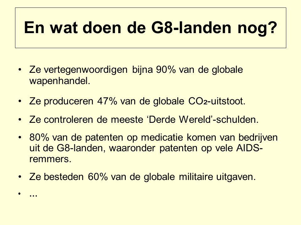 En wat doen de G8-landen nog. Ze vertegenwoordigen bijna 90% van de globale wapenhandel.