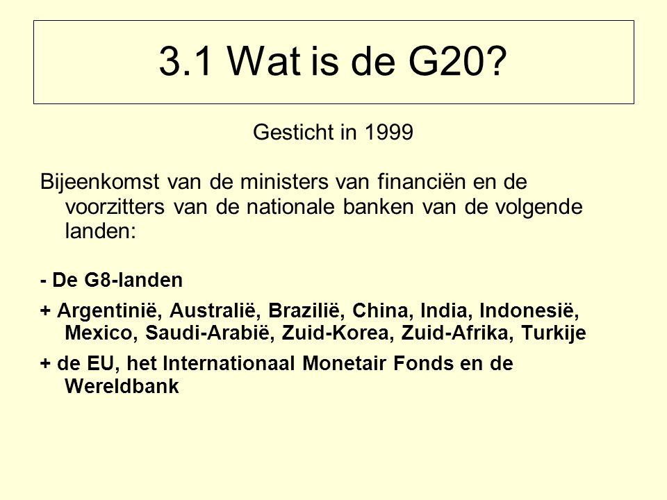 3.1 Wat is de G20.