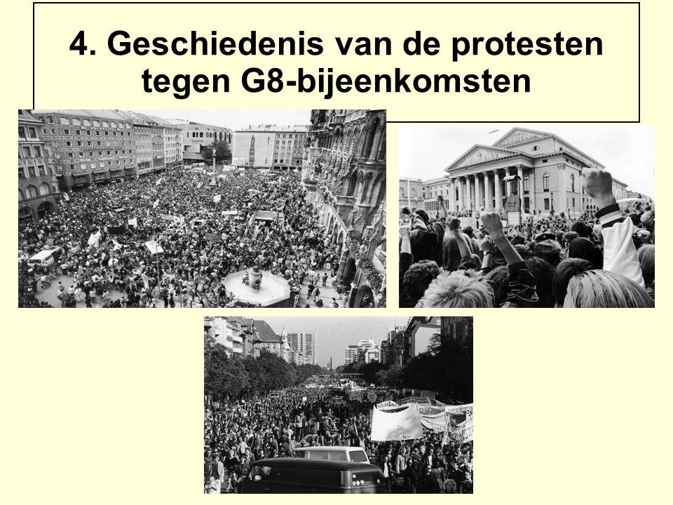 4. Geschiedenis van de protesten tegen G8-bijeenkomsten