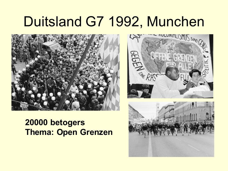 Duitsland G7 1992, Munchen 20000 betogers Thema: Open Grenzen