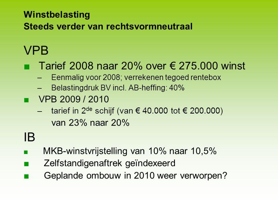 FBA Studiekring Utrecht Fiscale actualiteiten DGA/VPB Lucratieve belangen Mr. J. Zwagemaker maart 2009