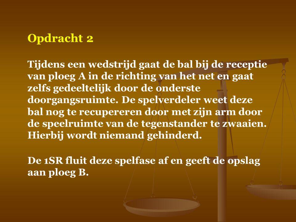 Opdracht wedstrijdblad 1.Hoofding a) Wedstrijd wordt gespeeld in Hees Vosselaar wordt A na de toss.
