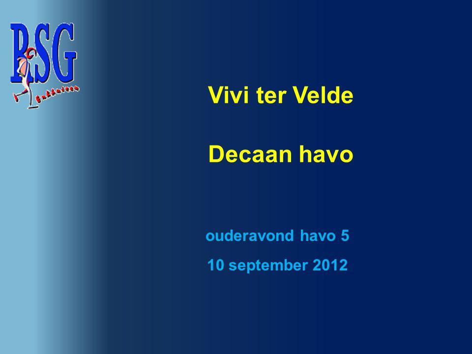 Vivi ter Velde Decaan havo ouderavond havo 5 10 september 2012