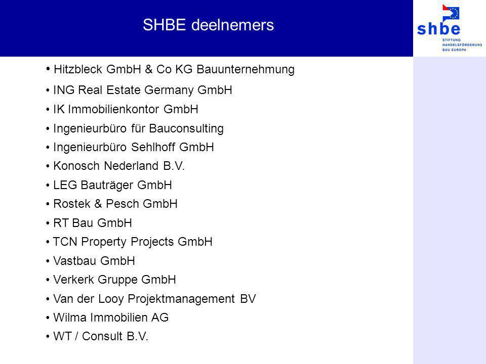 SHBE deelnemers Hitzbleck GmbH & Co KG Bauunternehmung ING Real Estate Germany GmbH IK Immobilienkontor GmbH Ingenieurbüro für Bauconsulting Ingenieur