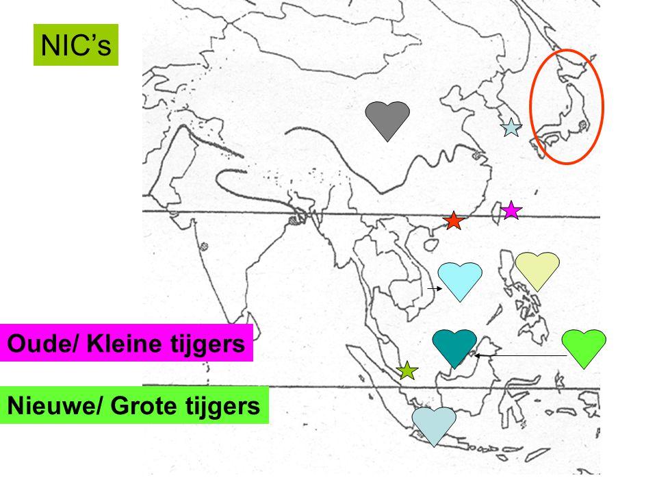 NIC's Oude/ Kleine tijgers Nieuwe/ Grote tijgers