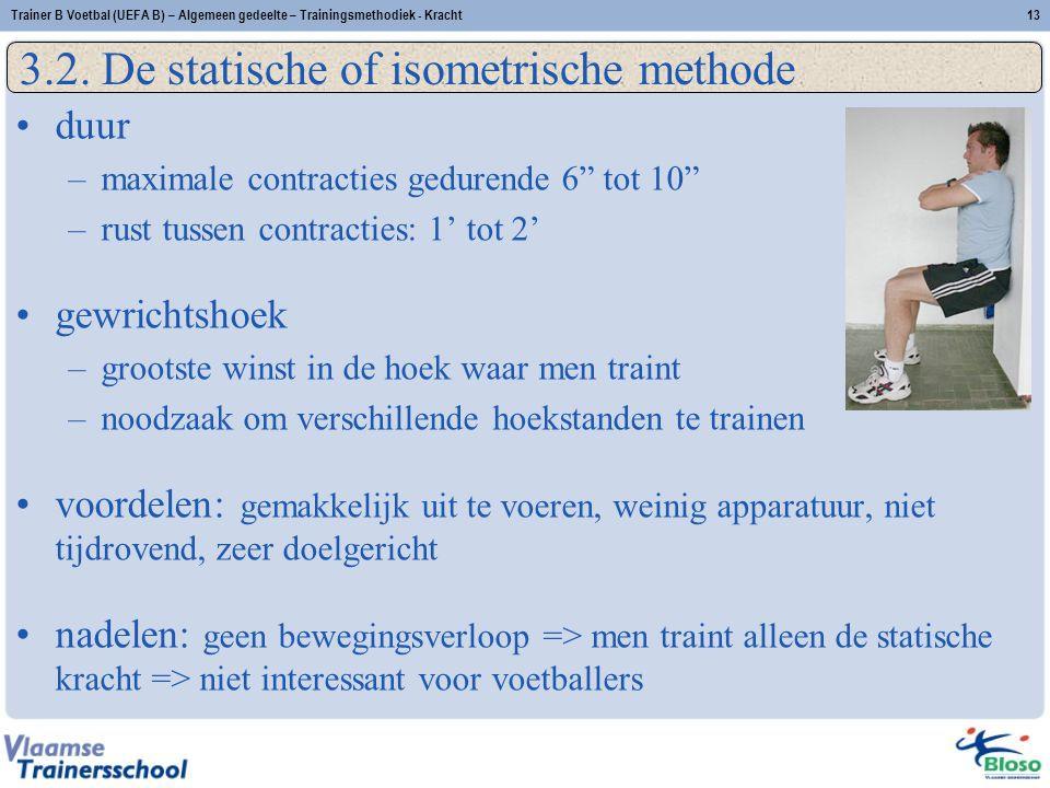 Trainer B Voetbal (UEFA B) – Algemeen gedeelte – Trainingsmethodiek - Kracht13 3.2.