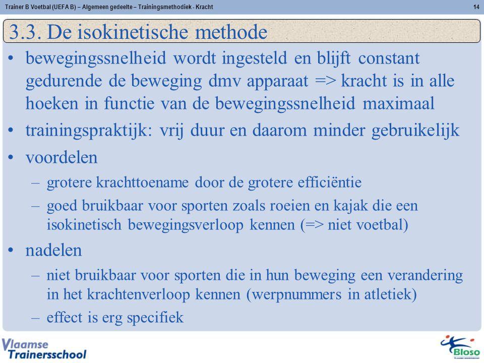 Trainer B Voetbal (UEFA B) – Algemeen gedeelte – Trainingsmethodiek - Kracht14 3.3.