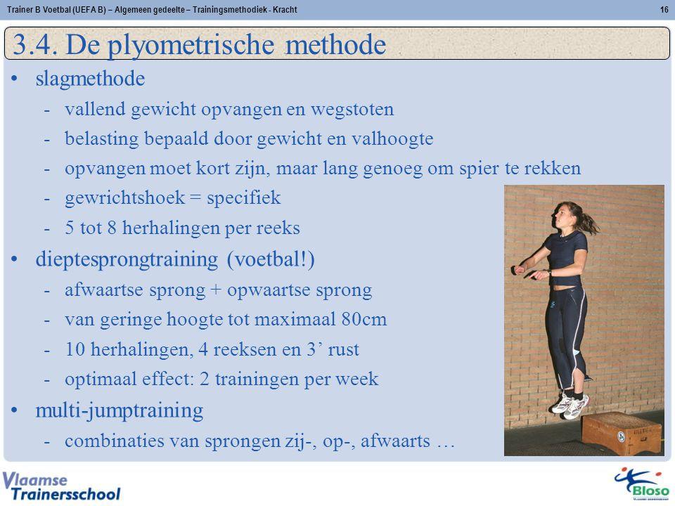 Trainer B Voetbal (UEFA B) – Algemeen gedeelte – Trainingsmethodiek - Kracht16 3.4.