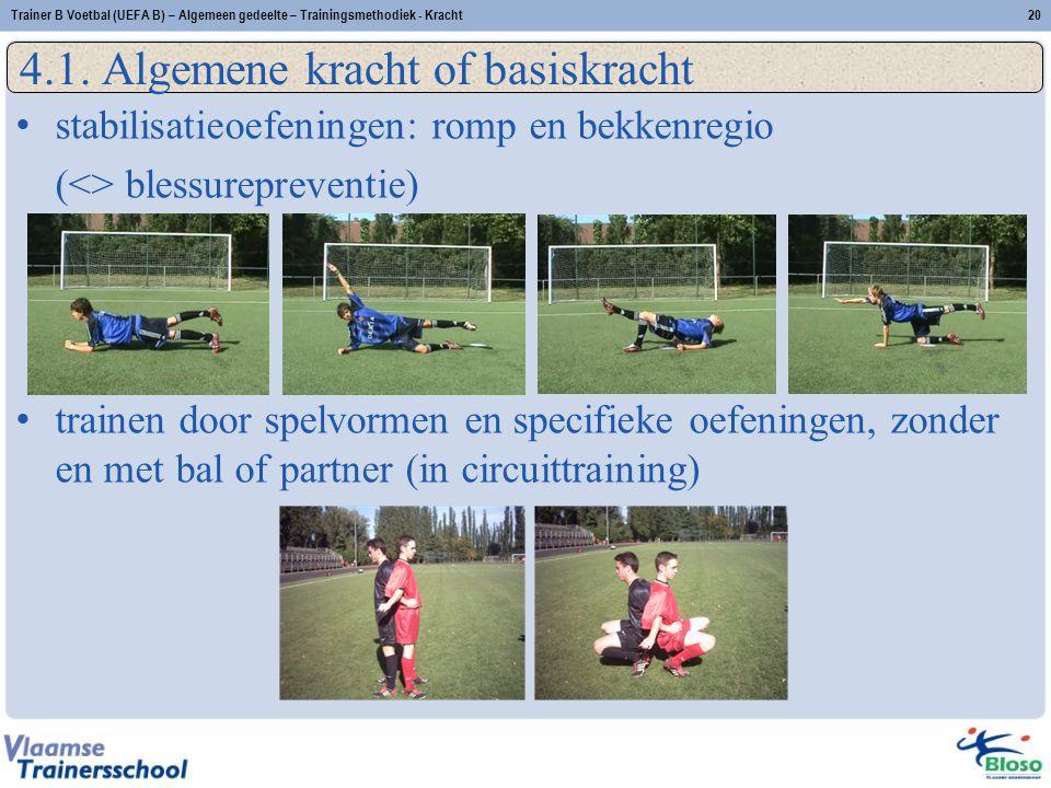 Trainer B Voetbal (UEFA B) – Algemeen gedeelte – Trainingsmethodiek - Kracht20 4.1.