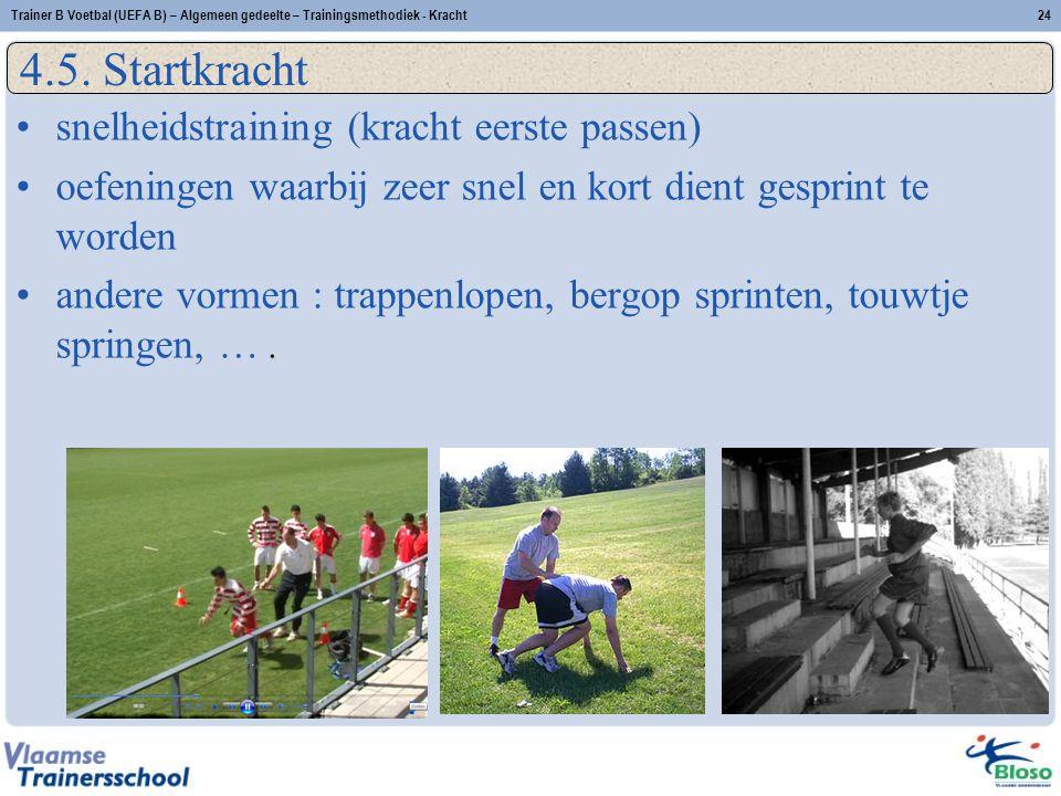 Trainer B Voetbal (UEFA B) – Algemeen gedeelte – Trainingsmethodiek - Kracht24 4.5.
